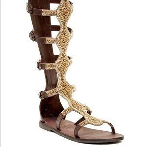 Rebels velocity gladiator sandal brown/gold